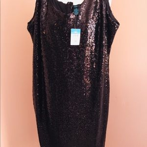 NWT, RUE Black Sequins Short Party Dress